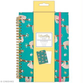 Carnet de notes à spirale A5 - Docrafts Noteworthy - Collection It's a Sloths life