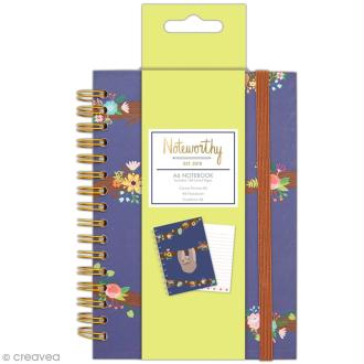 Carnet de notes à spirale A6 - Docrafts Noteworthy - Collection It's a Sloths life
