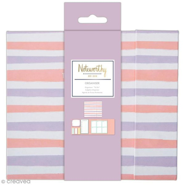 Organiseur bloc notes planning semaine - Docrafts Noteworthy - Collection Pastel hues - 6 pcs - Photo n°1