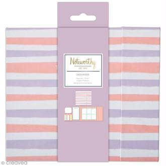 Organiseur bloc notes planning semaine - Docrafts Noteworthy - Collection Pastel hues - 6 pcs