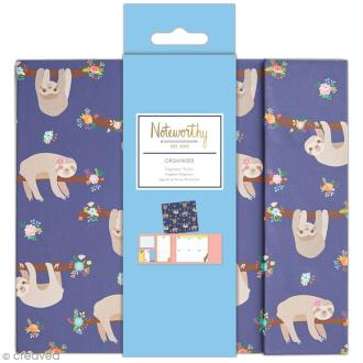 Organiseur bloc notes planning semaine - Docrafts Noteworthy - Collection It's a Sloths life - 6 pcs