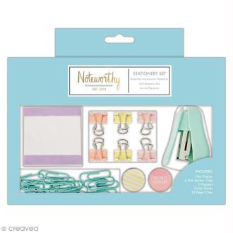 Petit set de papeterie - Docrafts Noteworthy - Collection Pastel hues - 30 pcs