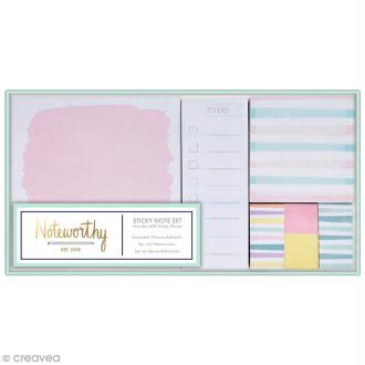 Set de Mémos adhésifs - Docrafts Noteworthy - Collection Pastel hues - 6 pcs