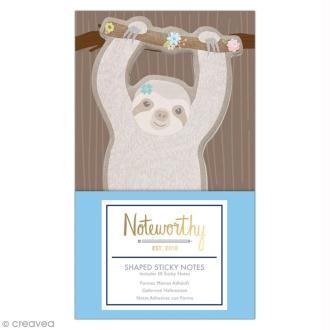 Set de Mémos adhésifs - Docrafts Noteworthy - Collection It's a Sloths life - 6 pcs