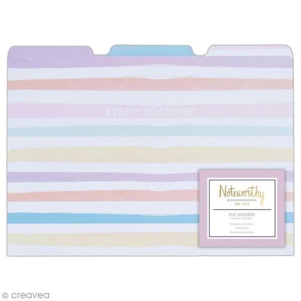 Pochette à onglets - Docrafts Noteworthy - Collection Pastel hues - 21 x 30 cm - 3 pcs - Photo n°1