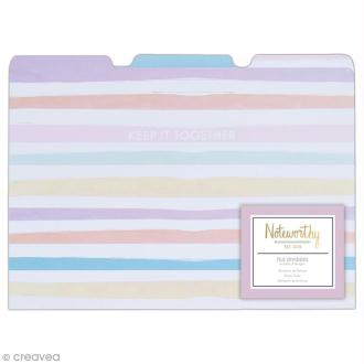 Pochette à onglets - Docrafts Noteworthy - Collection Pastel hues - 21 x 30 cm - 3 pcs