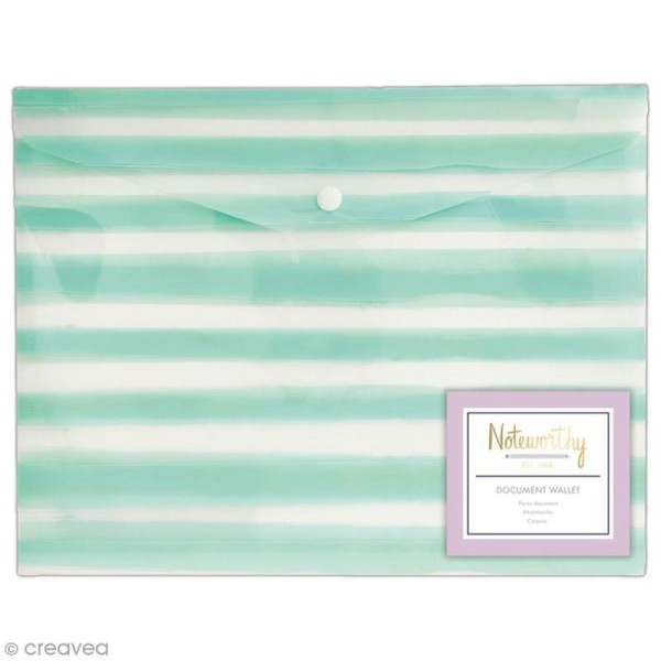 Pochette protège document - Docrafts Noteworthy - Collection Pastel hues - A4 - 1 pce - Photo n°1