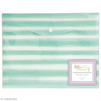 Pochette protège document - Docrafts Noteworthy - Collection Pastel hues - A4 - 1 pce