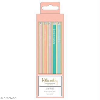 Assortiment de crayons papier - Docrafts Noteworthy - Collection Pastel hues - 5 pcs