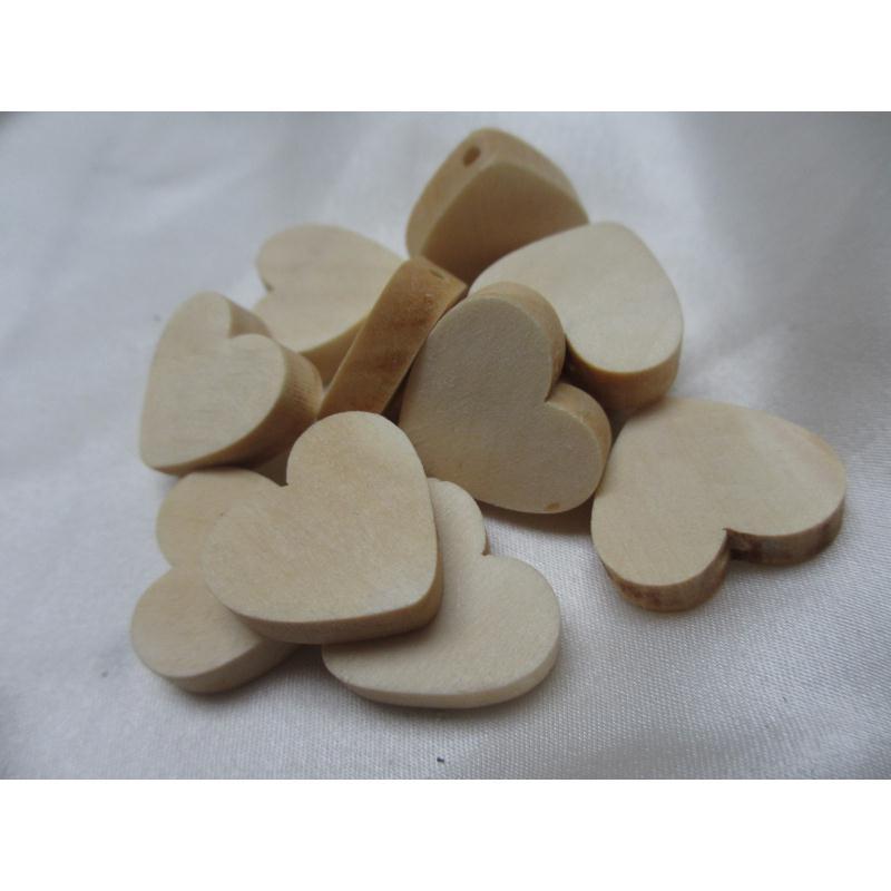 lot de 10 grandes perles bois naturel forme coeur perles. Black Bedroom Furniture Sets. Home Design Ideas