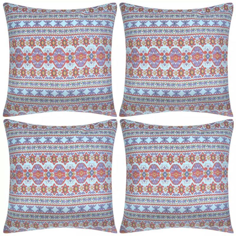 Vidaxl housse d 39 oreiller 4 pcs toile azt que multicolore for Housse pour fauteuil