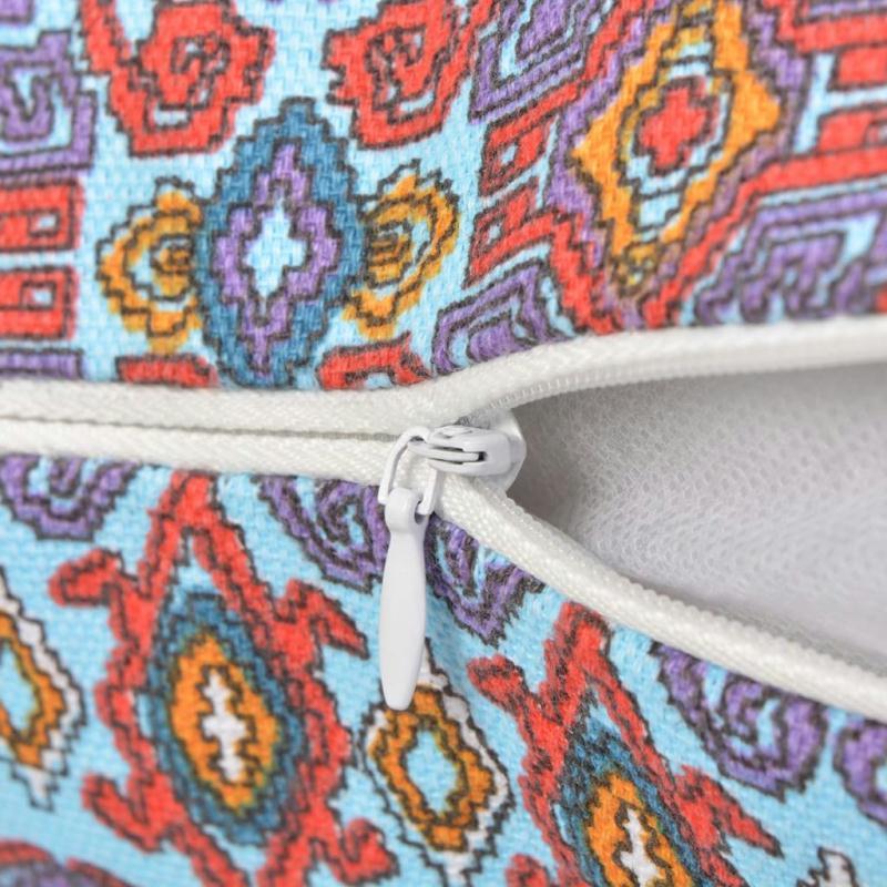 Vidaxl housse d 39 oreiller 2 pcs toile azt que multicolore for Housses de canape et fauteuil