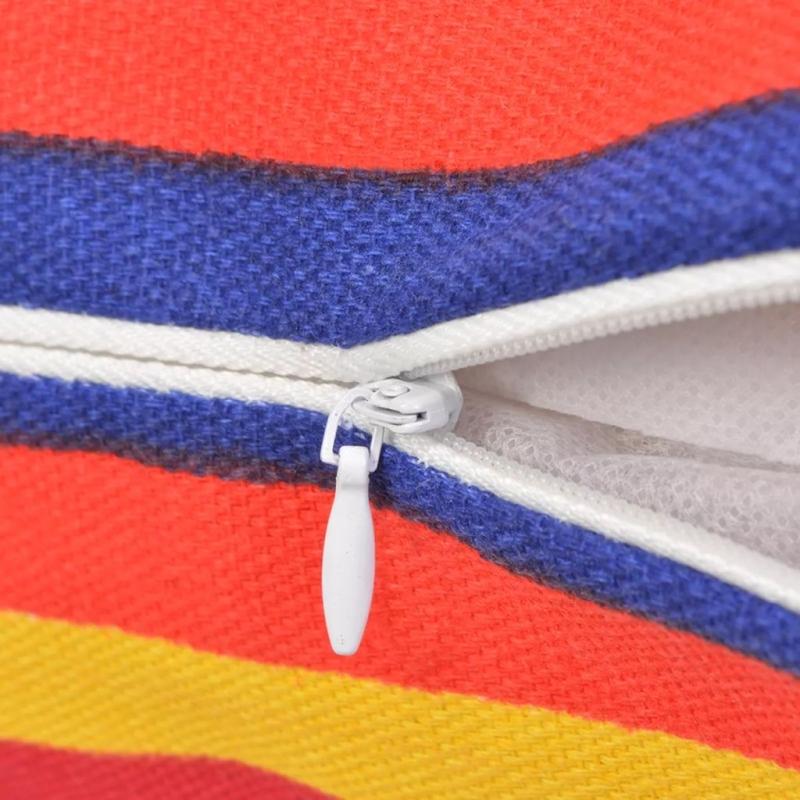 Vidaxl housse d 39 oreiller 4 pcs toile avec rayures troites for Housse pour fauteuil