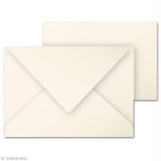 Set mini carte et enveloppe 70 x 95 Ivoire x 5