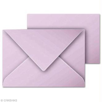 Set mini carte et enveloppe 70 x 95 Lilas x 5