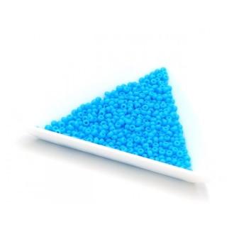 5 Grammes De Perles Miyuki Rocailles 11/0 Opaque Turq Blue Matted 0413f