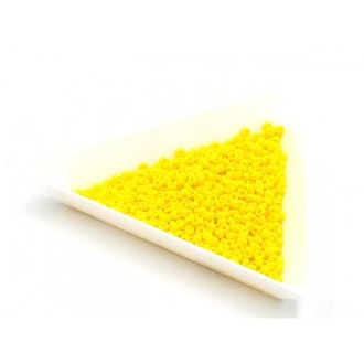 5 Grammes De Perles Miyuki Rocailles 11/0 Opaque Yellow Luster 0422