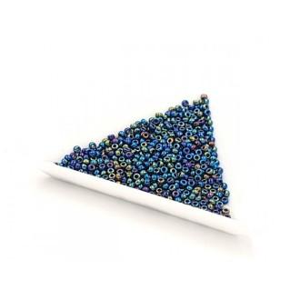 5 Grammes De Perles Miyuki Rocailles 11/0 Metallic Variegated Blue Iris 0455