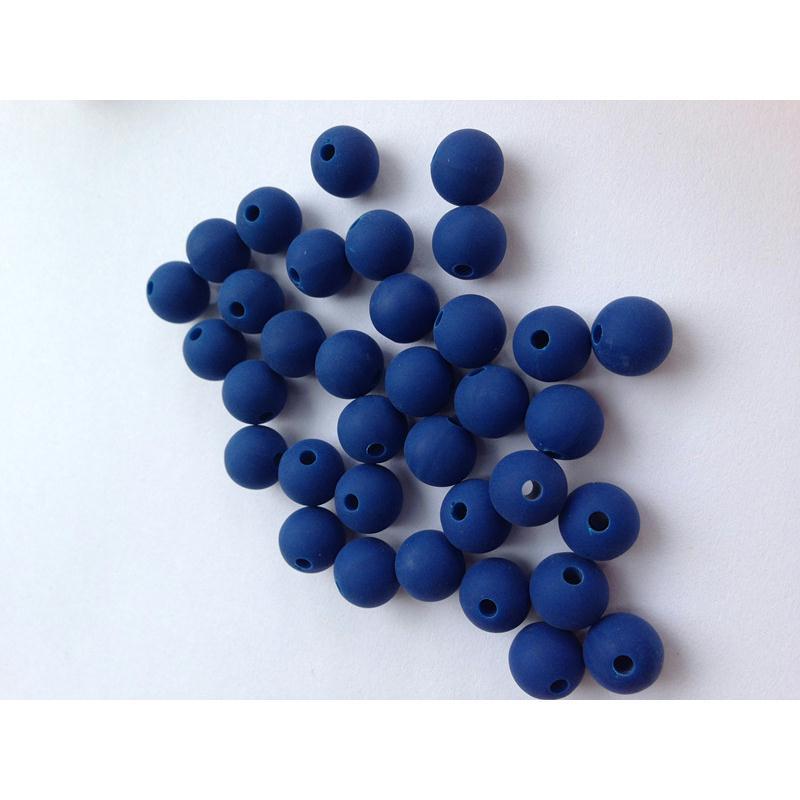 10 perle 10mm silicone couleur bleu marine creation bijoux bracelet attache tetine perles. Black Bedroom Furniture Sets. Home Design Ideas