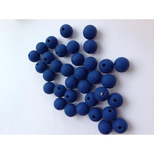 50 Perles en Bois 6mm Couleur Bleu Clair Creation bijoux