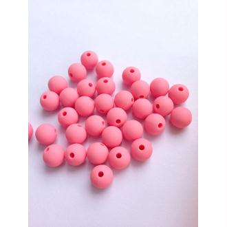 10 Perle 10mm Silicone Couleur Rose Creation Bijoux, Bracelet, attache tetine