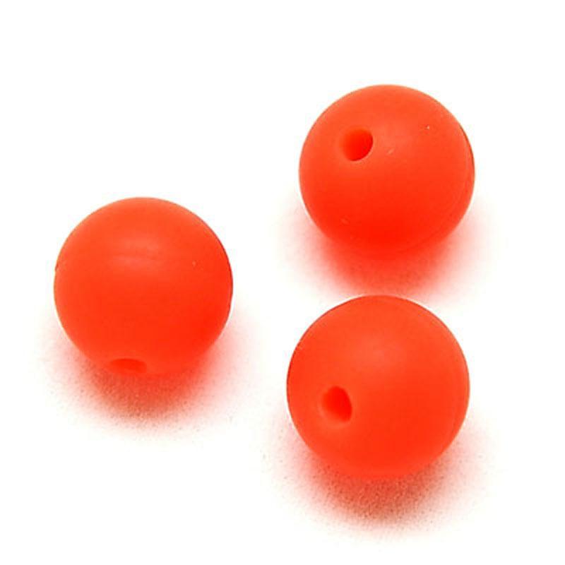 10 perle 10mm silicone couleur orange creation bijoux bracelet attache tetine perles. Black Bedroom Furniture Sets. Home Design Ideas