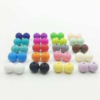 10 Perle 10mm Silicone Couleur Mixte Creation Bijoux, Bracelet, attache tetine