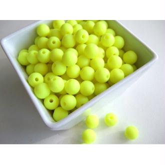 10 Perle 10mm Silicone Couleur Jaune Fluo Creation Bijoux, Bracelet, attache tetine