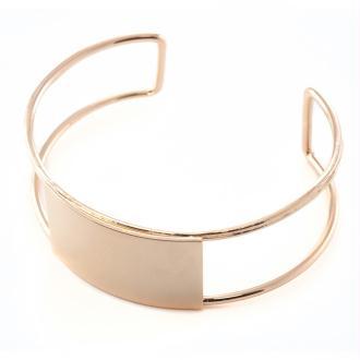 Bracelet jonc rose gold rectangle 2x61mm