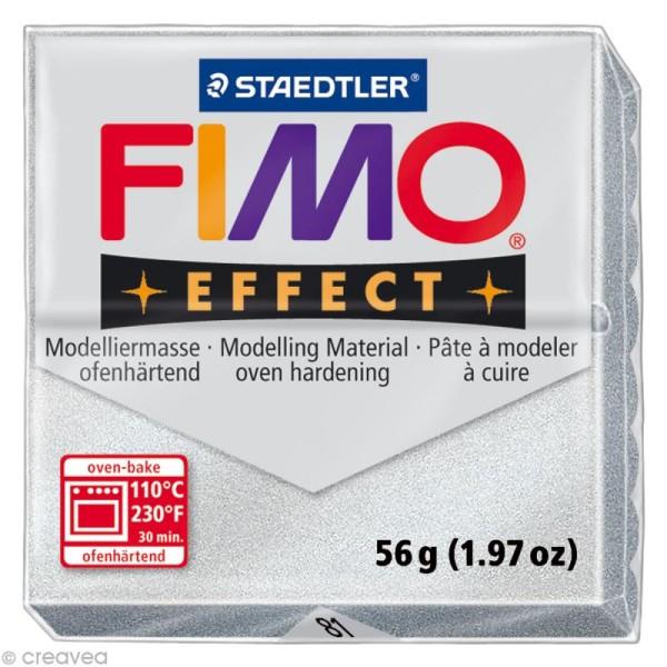 Pâte Fimo Effect Argent métallisé 81 - 56 gr - Photo n°1
