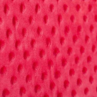 Tissu minky à pois  - Rouge- Par 50cm