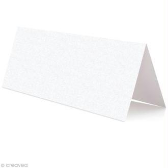 Marque place Blanc irisé 85 x 80 mm x 25