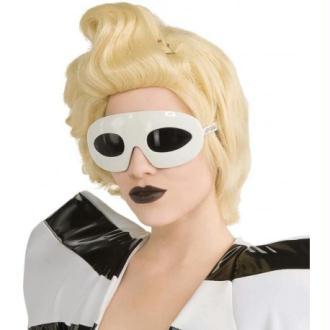 Lunettes Lady Gaga blanches femme
