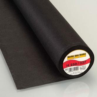 H250 Entoilage noir thermocollant Vlieseline pour tissu léger et moyen- Par 50cm