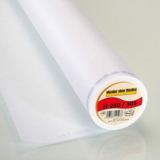 H250 Entoilage thermocollant Vlieseline pour tissu léger et moyen - Blanc - A la coupe