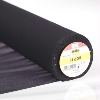 H 609 Entoilage noir thermocollant pour tissu à mailles - Vlieseline®- Par 50cm