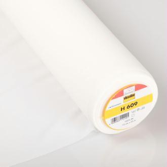 H609 Entoilage blanc thermocollant pour tissu à mailles - Vlieseline® - A la coupe