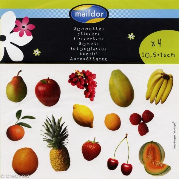 Coloriage Gommette Fruits Et Legumes.Gommette Photo Fruits Et Legumes X 102 4 Planches 10 5 X 16 Cm