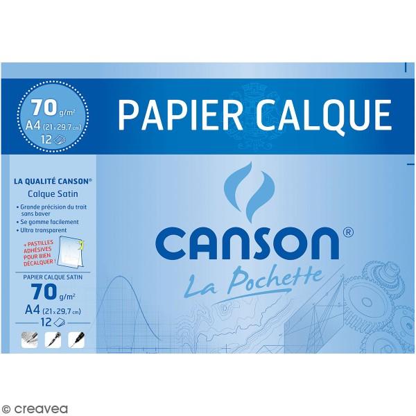 Pochette de papier calque - A4 - Photo n°1