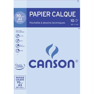 Pochette de papier calque - A3