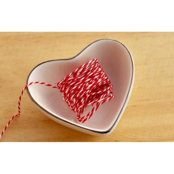 Baker twine, ficelle, rouge et blanc, corde, emballage cadeaux - Photo n°1