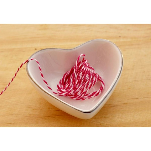 Baker twine, ficelle, fuchsia et blanc, corde, emballage cadeaux - Photo n°1