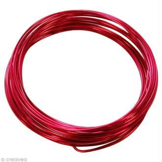 Fil aluminium 1,5 mm Rouge x 5 m