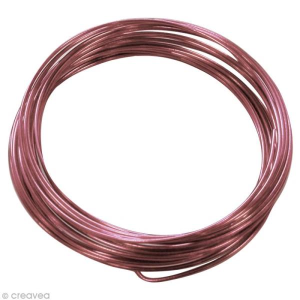 Fil aluminium 1,5 mm Rose x 5 m - Photo n°1