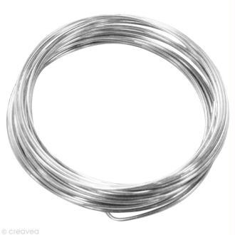 Fil aluminium 1,5 mm Argent x 5 m