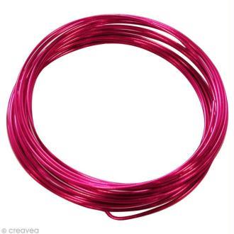 Fil aluminium 1,5 mm Rose vif x 5 m