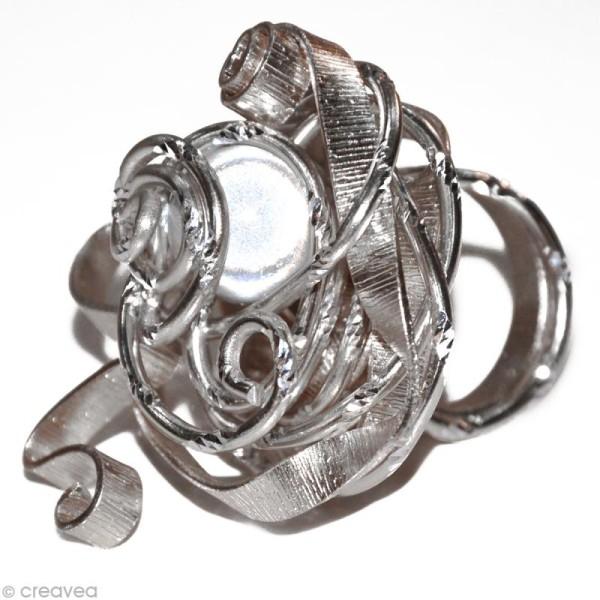 Fil alu ciselé Effet diamant 2 mm Argent x 5 m - Photo n°2