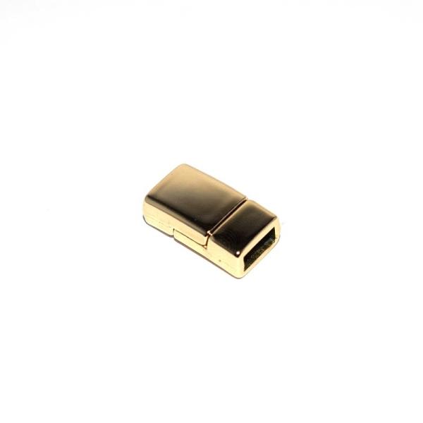 Fermoir magn/étique light gold 9x17xtr7 mm