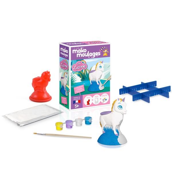 Coffret moulage en plâtre - Ma licorne - Mako moulages - 1 moule - Photo n°2