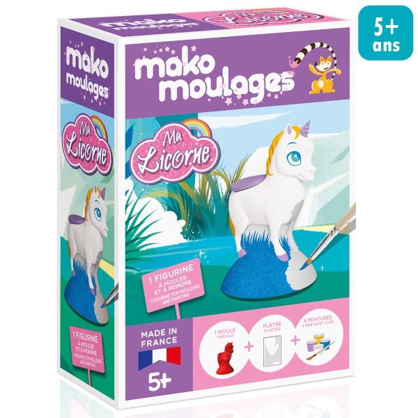 Coffret moulage en plâtre - Ma licorne - Mako moulages - 1 moule - Photo n°1